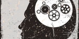 A mind with cogs in it