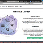 Reflective Learner badge