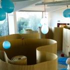 Corrugated paper escape rooms
