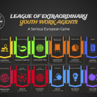 The League of Extraordinary Youth Work Agents badges